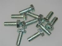 10 x M6 Steel Hex Head Bolts BZP Metric Fastener Length 1.6cm [H6]